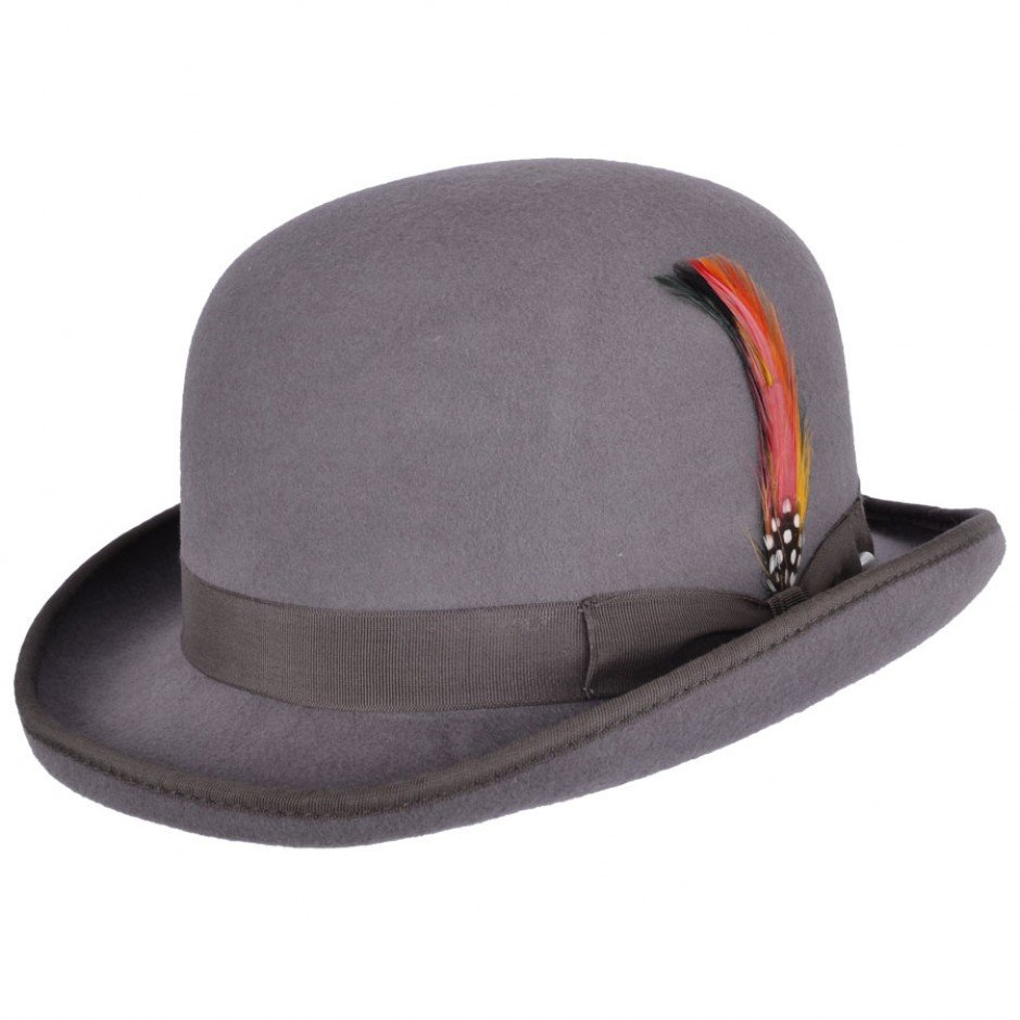 Dark Grey Bowler hat