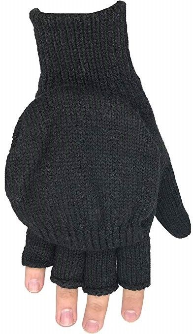Fingerless Knit Mitten Gloves